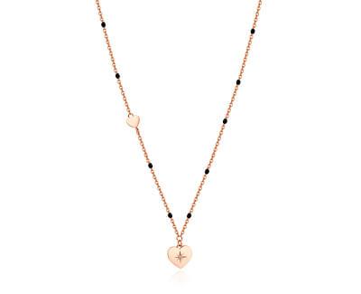 Růžově zlacený náhrdelník se srdcem Chant BAH36