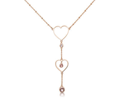 Srdiečkový oceľový náhrdelník Sight BGH02