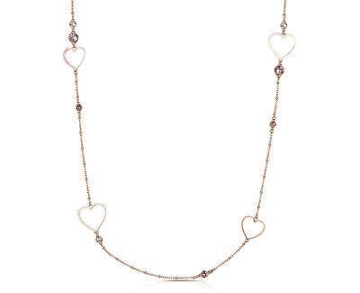 Srdiečkový oceľový náhrdelník Sight BGH04