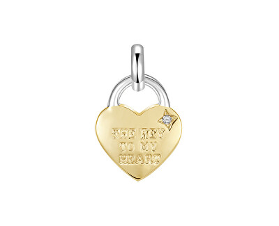 Pandantiv din oțel placat cu aur lacăt Très Jolie BTJM366