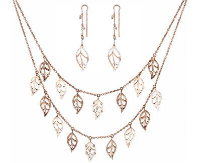 Zvýhodněná sada šperků Leaves for Life (náhrdelník, náušnice)