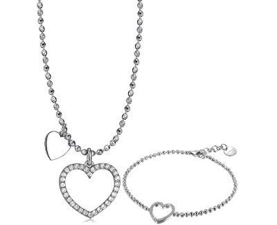Zvýhodněná sada stříbrných šperků Musa (náramek, náhrdelník)