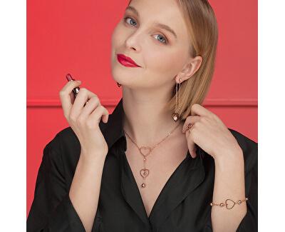 Srdiečkový oceľový náhrdelník Sight BGH01