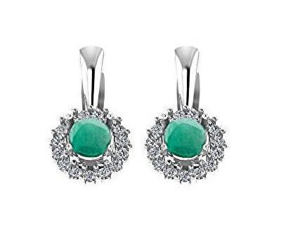 Cercei de argint cu smaralde SMAAGUC1942