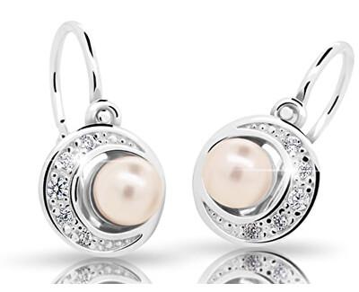 Dětské náušnice s perlou C2256-10-C3-S-2