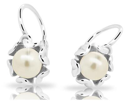 Dětské náušnice s perlou C2396-10-C2-S-2