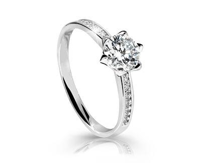 Úchvatný třpytivý prsten z bílého zlata Z6149-10-X-2