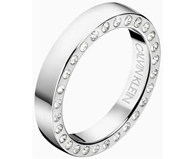Luxusní ocelový prsten s krystaly Hook KJ06MR0403