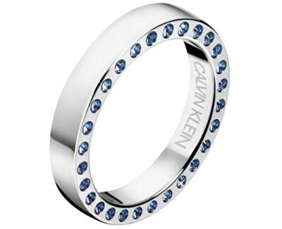 Luxusné oceľový prsteň s kryštálmi Hook KJ06MR0404