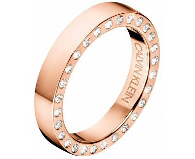 Luxusné oceľový prsteň s kryštálmi Hook KJ06PR1402