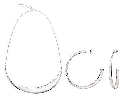 Luxusní zvýhodněná sada Groovy (náušnice, náhrdelník)