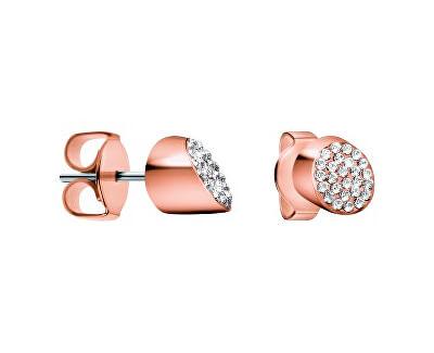 Růžově pozlacené náušnice s krystaly Brilliant KJ8YPE140100