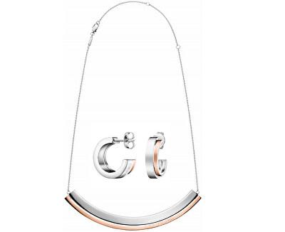 Zvýhodněná bicolor sada Loud (náhrdelník, náušnice)
