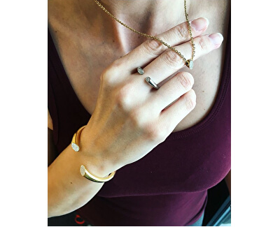 Colier placat cu aur roz cu pandantiv sclipitorgenial KJ8YPN140200