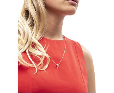 Růžově pozlacený náhrdelník s třpytivým přívěskem Brilliant KJ8YPN140100