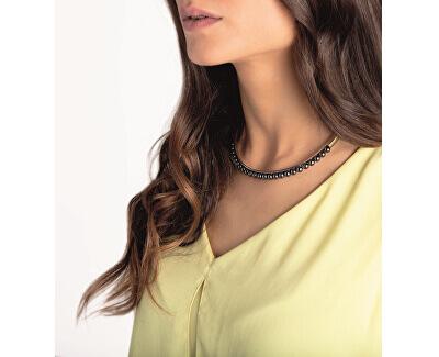 Zvýhodněná ocelová sada s perličkami Circling (náhrdelník, náušnice)
