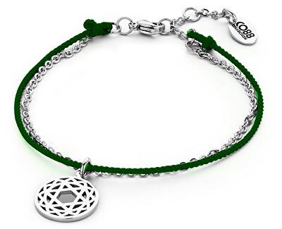 Zelený mandala náramok Štvrtá čakra 860-180-090204-0000