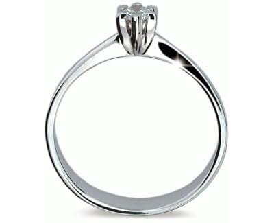 Luxusní zásnubní prsten se zirkonem DLR1953b