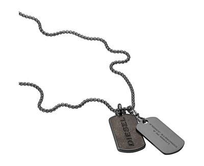 Pánský ocelový náhrdelník psí známky DX1257040
