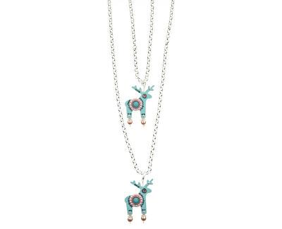 Dvojitý strieborný náhrdelník Lily & Cecilia