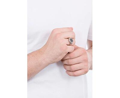 Luxusní ocelový prsten s onyxem EGS2727040