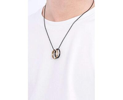 Stylový ocelový náhrdelník s kroužky EGS2760001