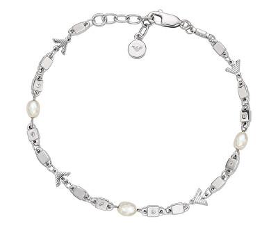 Luxusní dámský náramek s krystaly a perlami EG3474040