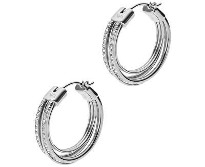Stahl Ohrringe Kristall Kreise EGS2195040