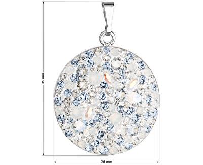 Stříbrný přívěsek s krystaly Swarovski 34131.3 Light Sapphire