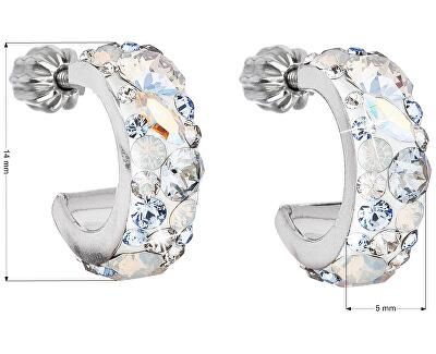 Stylové náušnice s krystaly Light Sapphire 31118.3