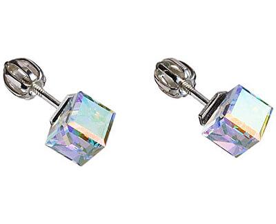 Cercei cubici 31030.2 cristal ab