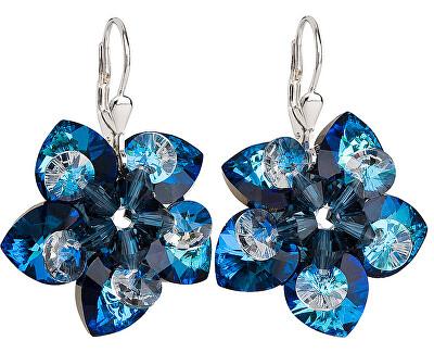 Cercei cu flori 31130.5 Bermuda blue