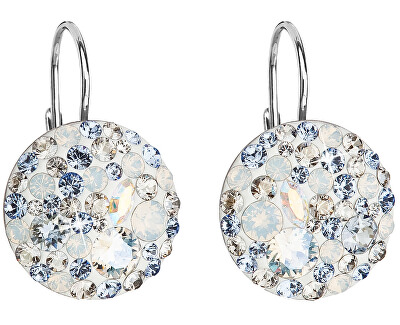 Stříbrné náušnice s krystaly 31183.3 light sapphire