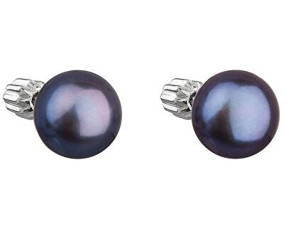 Strieborné náušnice s pravými perlami Pavona 21004.3 peacock
