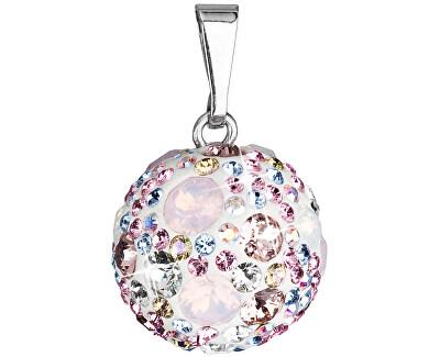 Stříbrný přívěsek s krystaly Swarovski 34081.3 Magic rose