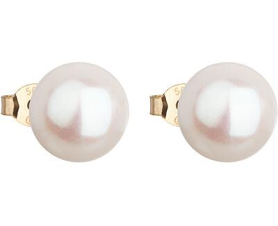 Zlaté náušnice kôstky s pravými perlami Pavona 921043.1