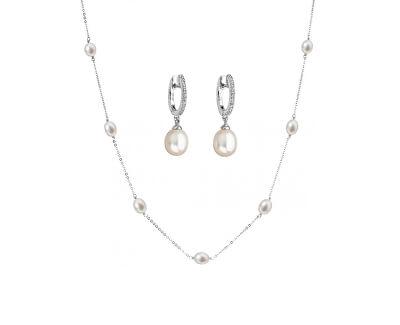 Zvýhodněná perlová souprava šperků Pavona 22016.1, 21002.1 (náhrdelník, náušnice)