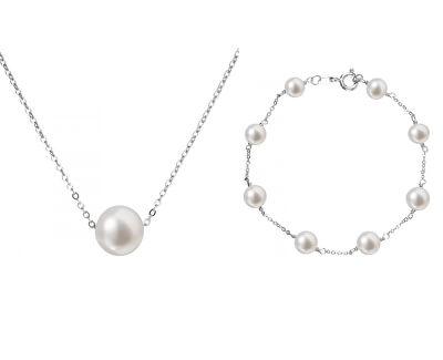 Zvýhodněná souprava stříbrných šperků Pavona 23008.1, 22023.1 (řetízek, přívěsek, náramek)
