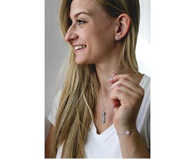 Stilvolle Halskette mit Anhänger und Achat  M ERN-HEAL-RQ-M (Kette, Anhänger)