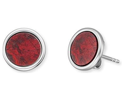 Stříbrné náušnice s červeným jaspisem ERE-RJ-ST