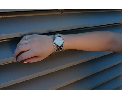Stříbrný prsten se syntetickou perlou Powder ESRG002011