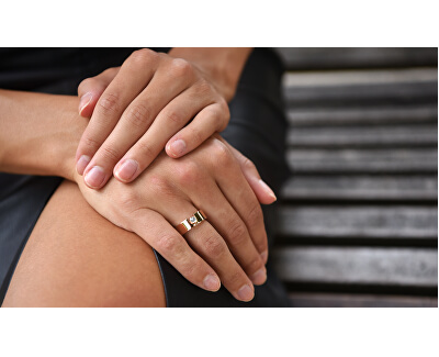 Oceľový prsteň Gem ESRG005721