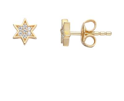 Pozlacené náušnice s krystaly Starry ESER01341200