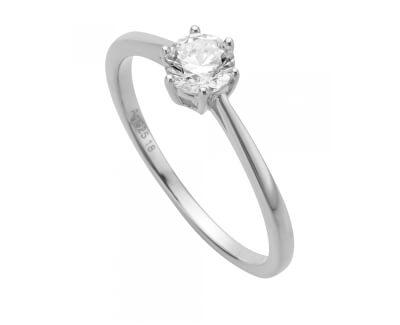 Stříbrný prsten se zirkonem Sole ESRG013911