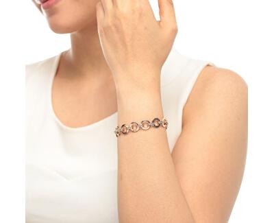 Luxusní pozlacený náramek s krystaly JF00693791