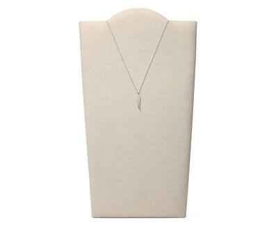 Něžný stříbrný náhrdelník s krystaly Andělské křídlo JFS00535040 (řetízek, přívěsek)