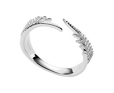 Něžný stříbrný prsten s krystaly JFS00536040