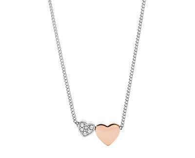 Oceľový náhrdelník so srdiečkami JF03097998