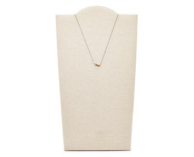 Ocelový náhrdelník se srdíčky JF03097998