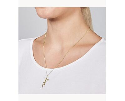 Colier din oțel placat cu aur Love JF03343710